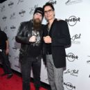 Zakk Wylde and Steve Vai attend the Les Paul 100th Anniversary Celebration on June 9, 2015 in New York City.
