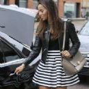 Rochelle Humes is pictured leaving the ITV studios following a guest appearance on 'Lorraine' - 331 x 600