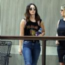 Megan Fox at The Audubon Aquarium of the Americas in Louisiana