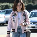 Lucy Hale in jeans shopping at Urban Outfitters in Los Angeles January 28, 2017 - 454 x 925