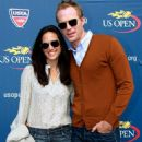 Jennifer Connelly and Paul Bettany at the US Open