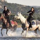 Zac Efron and Michelle Rodriguez horseback riding in Sardinia on Monday July 7, 2014