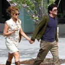 Eva Mendez  hand-in-hand with George Gargurevich