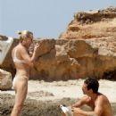 Robin Wright in Bikini at the beach in Formentera - 454 x 594
