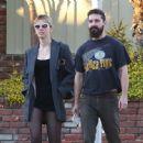 Mia Goth and Shia LaBeouf – Out in Los Feliz - 454 x 448