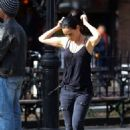 Lucy Liu heads to the set of 'Elementary' in West Village - 454 x 699