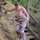 Iskra Lawrence – In camo leggings out for hike in Los Angeles - 454 x 568