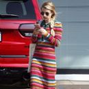 Emma Roberts in Colorful Dress – Hollywood Urgent Care in Hollywood
