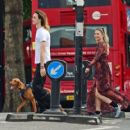 Emma Rigby walked the dog out in Notting Hill - 454 x 418