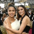Salma Hayek and Penélope Cruz At The 92nd Annual Academy Awards - Arrivals - 454 x 597