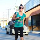 Ashley Greene was spotted leaving her local gym, July 12