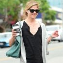 Selma Blair in Black Mini Dress out in Los Angeles - 454 x 748
