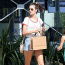 Alessandra Ambrosio in Shorts – Shopping at the Malibu Country Mart in Malibu - 454 x 681