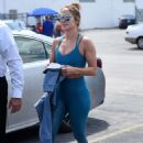 Jennifer Lopez in Blue Gym Outfit – Outside a gym in Miami