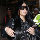 Nicki Minaj at LAX airport in Los Angeles - 454 x 501
