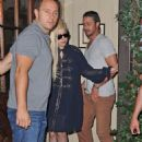 Lady Gaga at her dad's restaurant Joanne with Taylor Kinney (July 22)