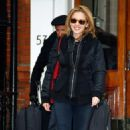 Kylie Minogue - Leaving Her House In London, 11th January 2010