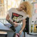 Iggy Azalea at Gas Station in Los Angeles