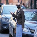 Lily-Rose Depp – Waits for an Uber in New York