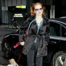 Jessica Chastain: arrived at the Walter Kerr Theatre in New York City