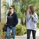 Teri Hatcher and her daughter in Tights out in LA