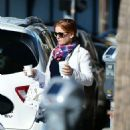 Isla Fisher at Alfred Coffee in Los Angeles