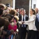 Queen Letizia of Spain Attends 'Princess of Girona Foundation' Prize in Arts and Literature - 399 x 600