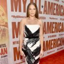 "Actress Amanda Righetti attends the premiere of Clarius Entertainment's ""My All American"" at The Grove on November 9, 2015 in Los Angeles, California"