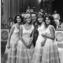 Lawrence Welk and Mary Lou Metzger, Cissy King, Sandi Griffiths, Anacani Echeverria - 454 x 677