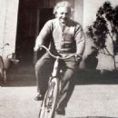 Albert Einstein Riding a Bike