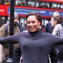 Melanie Brown at BBC Radio 1 promoting her book in London