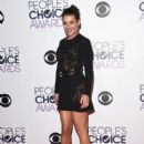 Lea Michele poses in the press room during the People's Choice Awards 2016 at Microsoft Theater on January 6, 2016 in Los Angeles, California - 408 x 600