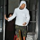 Joe Manganiello enjoys a boy's night out as he has dinner with a friend in Los Angeles, California on January 8, 2015