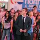 "Justin Timberlake films a scene for ""Friends With Benefits"" in Times Square in the middle of a dancing flash mob in New York"