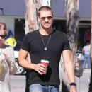 Chad Michael Murray grabs a coffee at Starbucks with his fiance Kenzie Dalton in Studio City, California on November 6th, 2012