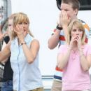 "Jennifer Aniston and Emma Roberts on the set of ""We're the Millers"" on location in Wilmington, North Carolina (July 25)"