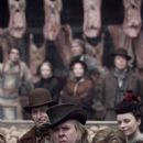 "The unctuous Beadle Bamford (Timothy Spall, center) is Judge Turpin's henchman in ""Sweeney Todd: The Demon Barber of Fleet Street."" Photo Credit: Frank Connor. © 2007 by DreamWorks LLC and Warner Bros. Entertainment Inc. All Rights Reser"