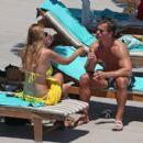 Rhian Sugden in Yellow Bikini in Ibiza - 454 x 409