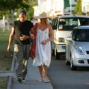 Nicollette Sheridan - And Michael Bolton Stroll In St. Barthelemy, 03.01.2008.