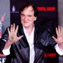 Quentin Tarantino immortalized in cement at TCL Chinese Theatre