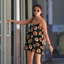 Sarah Hyland in Floral Mini Dress – Out in Studio City