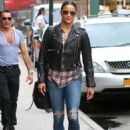 Paula Patton Street Style Out About In Nyc