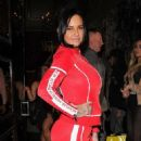 Jemma Lucy in Red – Arriving at Cafe De Paris in London - 454 x 602