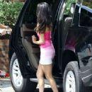 Selena Gomez Arriving on On Set of Neighbors 2 Sorority Rising In Atlanta, Ga September 2,2015