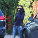 Mila Kunis – Heads out to her car in LA