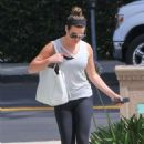 Lea Michele in Spandex out in Brentwood - 454 x 681