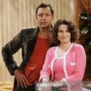 Megan Mullally and Jeff Goldblum