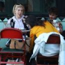 Kelly Osbourne at Little Dom's in Los Angeles - 454 x 303