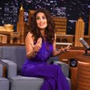 "Salma Hayek Visits ""The Tonight Show Starring Jimmy Fallon"" at Rockefeller Center on August 6, 2015 in New York City"