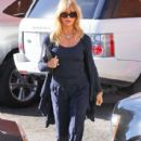 Goldie Hawn at the Early World Cafe in Brentwood